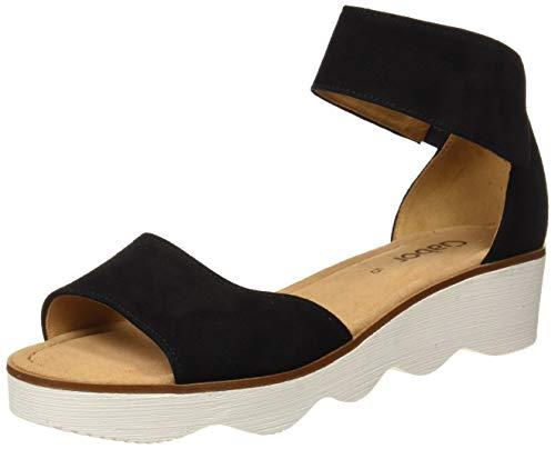 Gabor Shoes Fashion, Sandali con Cinturino alla Caviglia Donna, Nero (Schwarz 17), 39 EU