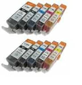 10x 22222 DruckerPatronen ersetzt Canon PGI-525BK CLI-526bk CLI-526C CLI-526M CLI-526Y