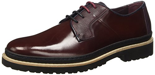 TED BAKER - Oktibr, Stringate da uomo, rosso (dark red leather), 41