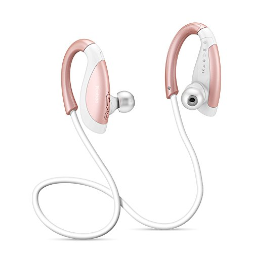 Yoobao YBL-110 Oreillette Bluetooth 4.1 Écouteurs d'exercice Sans fil Casque Haut-parleurs Sport Stéréo avec Micro et CVC 6.0 Annulation Sonore, IPX4 Sweatproof Neckband Bluetooth Headset pour iPhone, iPad, Samsung Galaxy, HTC et Plus-Rose Gold
