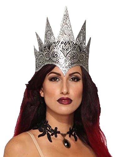 Forum Novelties x80377Spitze Queen Krone Dark Royalty, Damen, (Forum Spitzen Kostüme)