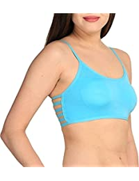 cf2b2d5b32879 BJAC 6 Straps Mint Green Padded Bralette (Removable Pads) with Black Briefs  Regular Wear