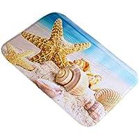 NaiCasy Concha de mar Piso Antideslizante hogar, Cocina, recámara Alfombra de 40 x 60 cm, 7#