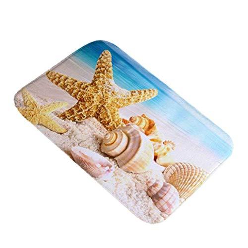 NaiCasy Meeresmuschel, Rutschfest, für Zuhause, Küche, Kamera, 40 x 60 cm, 7#