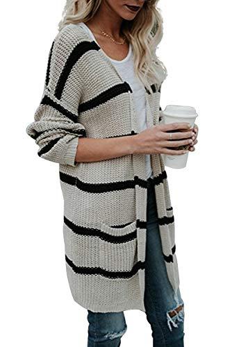 Landove maglione donna manica lunga moda mantelle giacca cappotto cardigan irregolare scollo v maglioni di maglia maglieria knitted pullover tops elegante autunno inverno