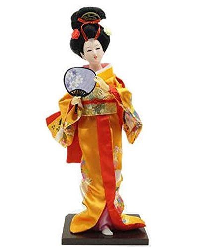Japanische traditionelle Puppe Geisha Puppe antike japanische Puppen [Q]