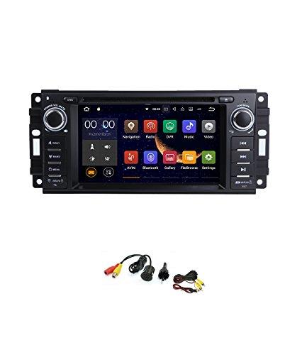 smartnavi Android 7.1Auto Stereo GPS DVD Player für Jeep/Dodge/Chrysler Head Unit Single DIN 15,7cm Touch Bildschirm INDASH Radio Empfänger mit Navigation Bluetooth/3G/hinten Kamera