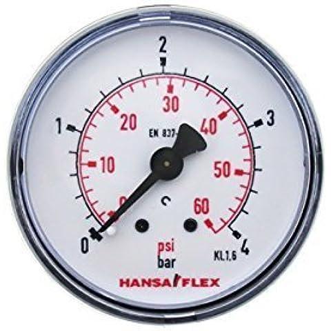 ø 50mm Manómetro 0-4 Barra Tuerca G 1/4 Pulgadas Hansa Flex Exhibición de la presión trasero