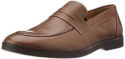 Hush Puppies Mens Flexi Rub Penny Tan Leather Formal Shoes - 8 UK/India (42 EU)(8543989)