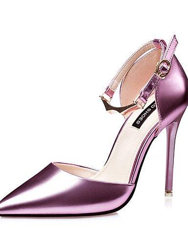 WSS 2016 Chaussures Femme-Mariage / Habillé / Soirée & Evénement-Noir / Rose / Argent / Or-Talon Aiguille-Talons / Bout Pointu-Talons-Similicuir silver-us8 / eu39 / uk6 / cn39