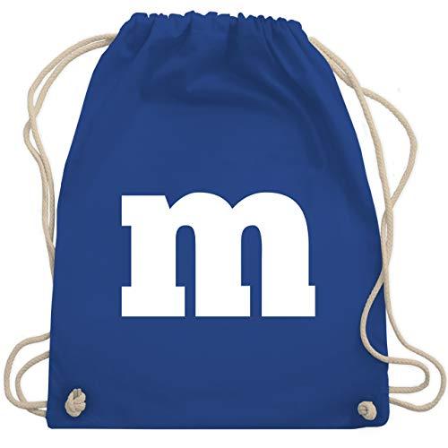 M&ms Kostüm Tasche Von - Karneval & Fasching - Gruppen-Kostüm m Aufdruck - Unisize - Royalblau - WM110 - Turnbeutel & Gym Bag