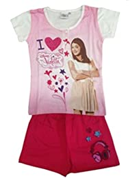 Violetta - Pyjama Violetta court blanc en coffret - 6 ans,8 ans,10 ans,12 ans