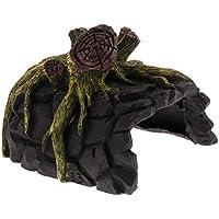 B Blesiya Ornamento de Terrario Reptil Accesoiros de Acuario Decorativo Resistente Duradero - Estilo 1