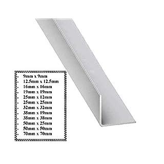 White PVC Corner Angle Trim. 90 Degree Trim. Choice of Length and Sizes. (9mm x 9mm @ 2 Metres)