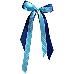 Schultütenschleife blau-türkis
