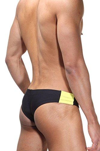OBOY B35 Bade-Minipants Schwarz/Gelb