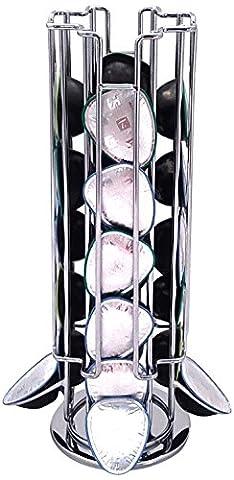Tavola Swiss 50.49077 Porte capsules Spécial T Ceylan Acier Inoxydable Anthracite 11 x 11 x 32.4 cm