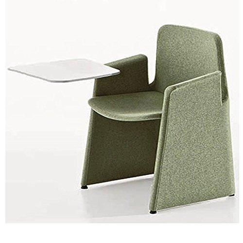 Milani poltroncina miro' con struttura fissa e tavoletta scrittoio in tessuto comfort (grigio antracite)