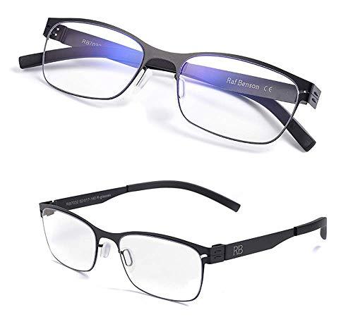 KOMNY Blu-ray Lesebrille Screwless Smart Zoom Lesebrille männlich weit und in der Nähe von Dual-Use-High-Definition-Anti-Blaulicht Progressive Multi-Fokus-Lesebrille, A100 Grad