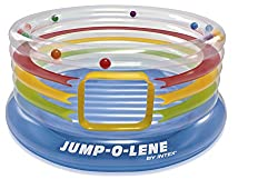 Intex Jump-O-Lene Ring Bouncer - Transparent - Inflatable Bouncy Castle - Ø 182 x 86 cm