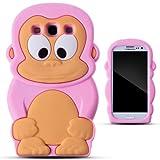 Zooky® rosa silicona mono FUNDA / CARCASA / COVER para Samsung Galaxy S3 (i9300)