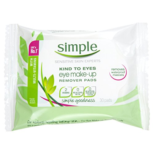 Simple Eye Makeup Removal Pads – Pack of 30