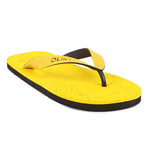 Duke Men's Yellow & Black Coloured Eva Slippers 6  available at amazon for Rs.250