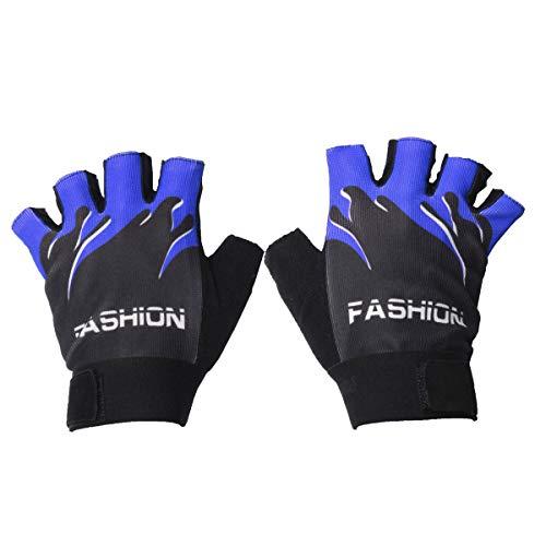 (Wooya Motorrad Warm Kalte Winter Handschuhe Sensing Touchscreen Handy-Blau)