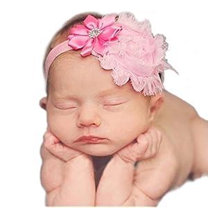 Unbekannt Haarband mit Blumen Tüll Strass Mädchen Baby Taufe Haarschmuck