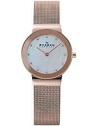 Skagen Slimline 358SRRD - Reloj de mujer de cuarzo, correa de acero inoxidable color oro