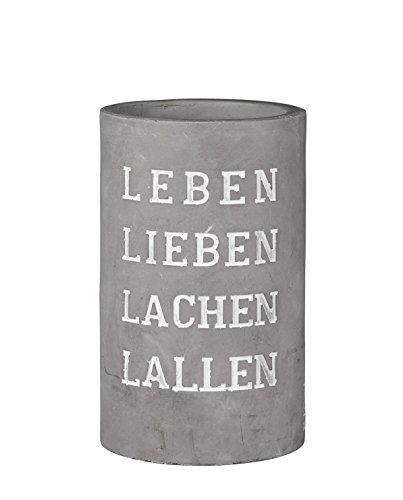 Räder - PET Vino - Beton Weinkühler - Sektkühler Leben lieben... Ø 13,5 cm Höhe 21,5 cm