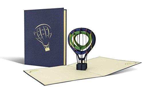 H12 Heißluftballon als Gutschein oder perfekte Verpackung für Heißluftballonfahrt, Geschenk als 3D-Pop-Up Modell, Ballonflugkarte (Geschenk-ballons)