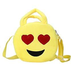 Bolso mochila para mujer Sannysis mujeres Emoticon bolso de hombro Impresión emoji (02)