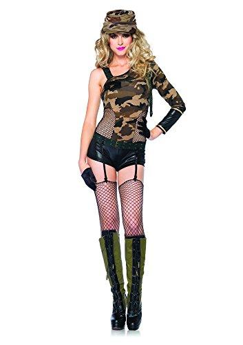arnung Mädchen Kostüm Set, 3-teilig, Größe M, camo ()