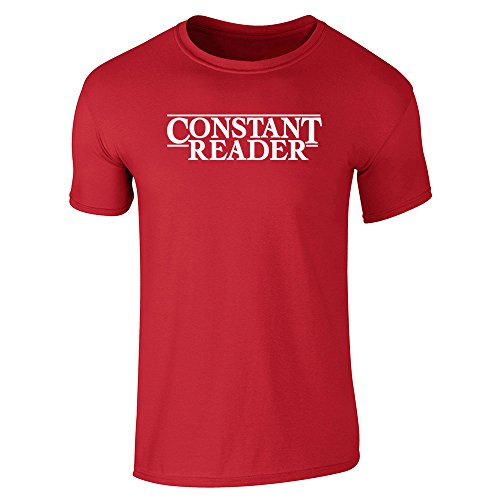 Pop Threads Mens Constant Reader Short Sleeve T-Shirt