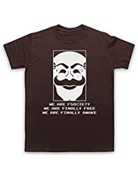 Mr Robot We Are Fsociety We Are Finally Free We Are Finally Awake T-Shirt des Hommes