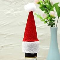 PhilMat Mini botella de vino casquillo 10pcs navidad botella decorada de Navidad sombreros