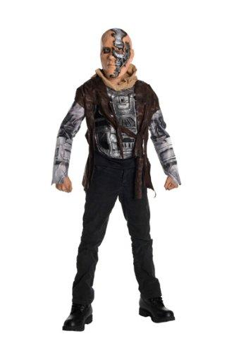 T600 Kostüm Terminator - Rubies Kost-me 185239 Terminator 4 Deluxe T600 Kinderkost-m Large Schwarz