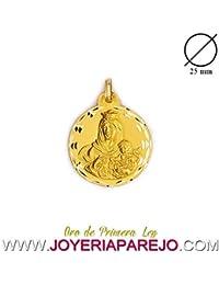 Medalla Virgen del Carmen Oro 18K. 750Mls. 25Mm.