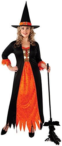 Rubie's Gothic Kostüm Hexe-Plus Größe mit Kleid und Hut Fancy Kleid Party Damen
