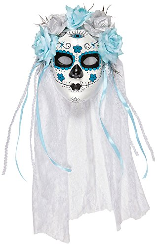 y Of The Dead Bride Mask & Veil Halloween Fancy Dress Accessory (Cinco De Mayo Spiele)