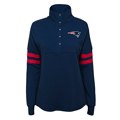 NFL by Outerstuff NFL New England Patriots Junior Classic Throw Varsity 1/4 Snap Pullover Top Dark Navy (38-17) Varsity Snap