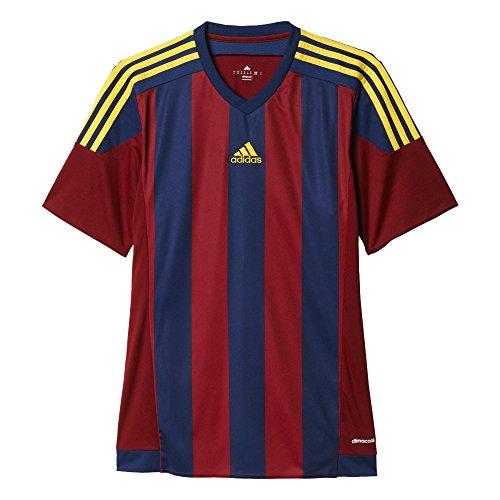 adidas Jungen Trikot Striped 15 Short Sleeve, rot (Collegiate Burgundy/Dark Blue/Yellow), 152, S16141