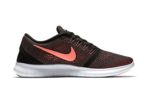 Nike 831509, Sneakers Basses Femme Multicolore (Black / Lava Glow / Off White)