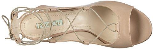Paco Gil - P3032, Scarpe col tacco con cinturino a T Donna Beige (Beige (Old Rose))