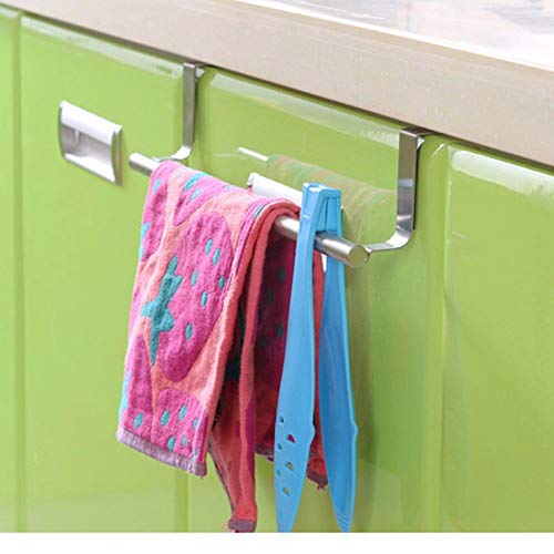 Coogel 1 Piece Over Door Towel Rack Bar Hanging Holder Bathroom Kitchen Cabinet Shelf Rack Home Organization -