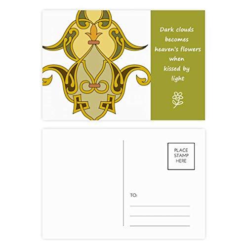 Poesie Postkarten-Set mit englischsprachiger Aufschrift, bunt, barock, 20 Stück