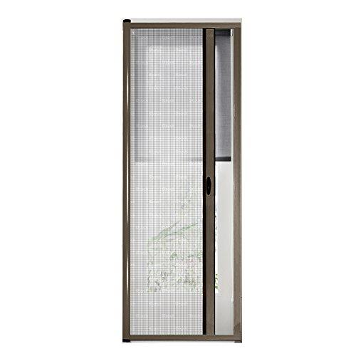 Zanzariera universale a rullo frizione per porte zanzariere kit easy up marrone 150x250cm