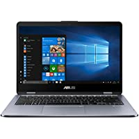 """ASUS VivoBook Flip 14 TP410UA-EC228T - Ordenador portátil convertible de 14"""" FHD (Intel Core i3-7100U, 4 GB RAM, 1 TB HDD, Intel HD Graphics 620, Windows 10 Home) gris oscuro - Teclado QWERTY Español"""