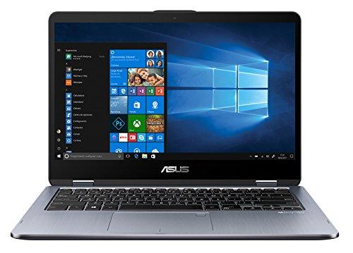 ASUS VivoBook Flip 14 TP410UA-EC228T – Ordenador portátil Convertible de 14″ FHD (Intel Core i3-7100U, 4 GB RAM, 1 TB HDD, Intel HD Graphics 620, Windows 10 Home) Gris Oscuro – Teclado QWERTY Español